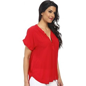 Velvet by Graham & Spencer Women's Chazmin Short Sleeve Challis Top Sport T-Shirt PT
