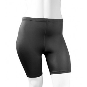 Plus Women's Spandex Exercise Compression Workout Shorts Black 3XL