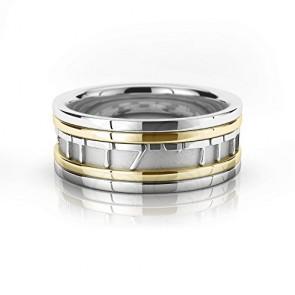18k White And Yellow Gold Ani Ledodi Vedodi Li Jewish Wedding Ring 9 mm