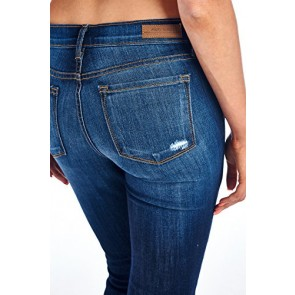 Angry Rabbit Womens Patch Work Destroyed Skinny Designers Premium Denim Jeans Made in USA-25
