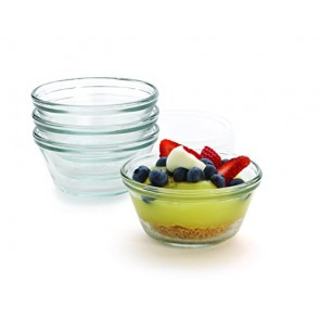 Anchor Hocking Glass Prep Bowls Custard Cups, 6 Ounce, Set of 4