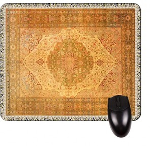 Antique Style Style Tabriz Persian Rug Print Design TM -Square Mouse pad - Stylish, Durable Office Accessory and Gift Made in the USA