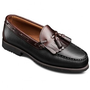 Allen Edmonds Men's Nashua Moccasin,Black Grain/Brown,7.5 D US