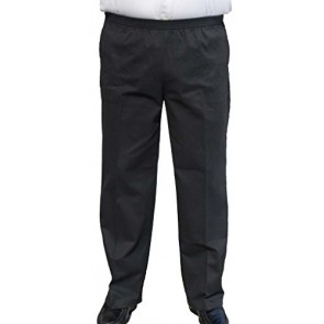The Senior Shop Men's Full Elastic Waist Twill Casual Pant 2XL/30 Black