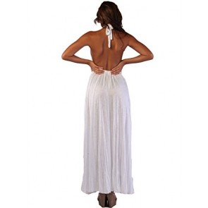 Ingear Tent Maxi Dress Cover up (Large/Xlarge, White)