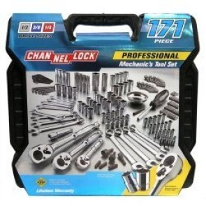 171 Piece Mechanic's Tool Set 171 PC. Mechanic's Tool Set by Channellock