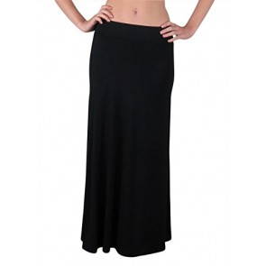 Free to Live Women's 3 Pack Foldover High Waisted Maxi Skirts (Small)