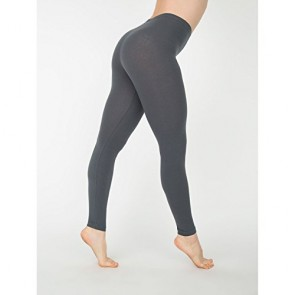 American Apparel Womens/Ladies Cotton Spandex Jersey Leggings (XS) (Asphalt)