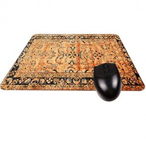 Antique Look Fringe Persian Rug-Square Mouse pad -Stylish, Durable Office Accessory Made in the USA
