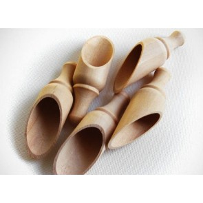 5 Unfinished Wood Round Scoops 3 1/2 Inches, Made in the USA, by My Craft Supplies