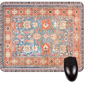 Antique Style Persian Sultanaba Rug Print Design TM -Square Mouse pad - Stylish, Durable Office Accessory and Gift Made in the USA