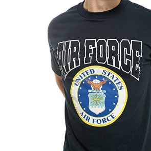 Made in USA Military Cotton Tee Shirt - Air Force S