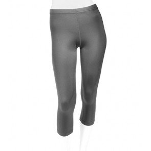 Women's Spandex Compression Capri Made in USA - 2 Colors Available (X-Small, Charcoal)