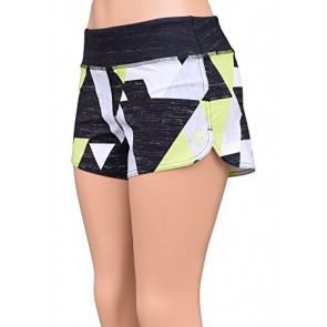 UN92 WC14 Women's Block Fit Shorts, Green-2