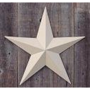 24 Inch Solid Beige Barn Star Made with Galvanized Metal to Prevent Rusting. Amish Hand Made Your Source for Heavy Duty Metal Tin Barn Stars and Primitive Style Stars for Your Country Crafts and Home and Garden Decor. American Handcrafted - Made in the Us
