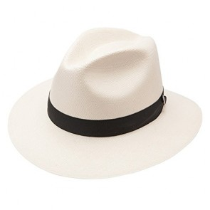 Stetson & Dobbs Men's Gulfport Shantung Straw Fedora Hat, Natural - 7 1/8