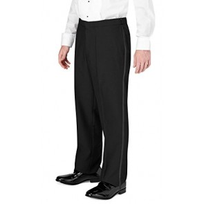 Kyle Thomas Men's Polyester Plain Front Tuxedo Pant