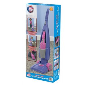 American Plastic Toys Girl's Tidy Up Vacuum Set
