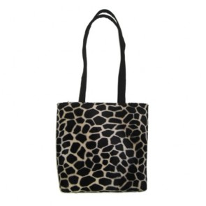 Giraffe Animal Print Tote Bag Handbag - 100% Hand Made in USA