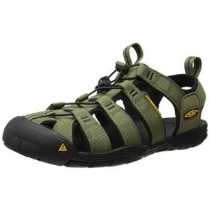 KEEN Men's Clearwater CNX Hybrid Shoe, Burnt Olive/Black, 7 M US