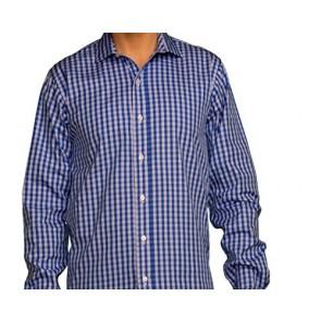 J Wingfield Men's Benjamin Royal Check White/Blue Spread- Dress Shirt