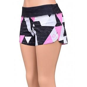 UN92 WC14 Women's Block Fit Shorts, Pink-2