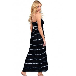 Ingear Maxi Dress Long Tie Dye Cover Up Summer Dress Beachwear