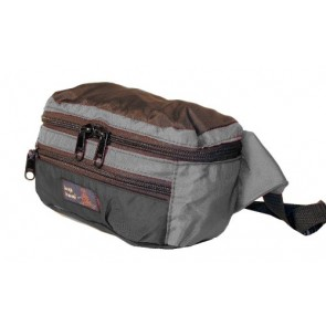 Tough Traveler Hip Pack - Made in USA Waistpack - Grey/Black