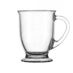 Anchor Hocking Glass 16 Ounce Cafe Mug, Set of 4