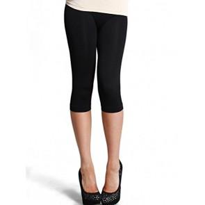 Nikibiki Seamless Sports Yoga Capri Leggings Pants (One Size, Black)