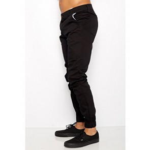 Mens Joggers twill pants Heft Signature Urban Brand Made in USA (28, Black)