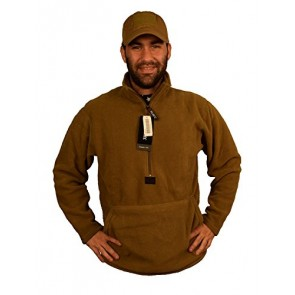 Polartec Fleece Pullover, Coyote Brown, USMC Issue, Made in USA