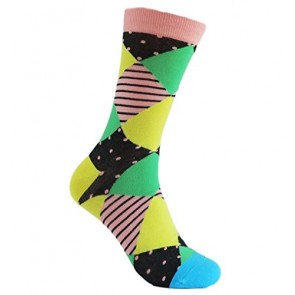 Made in USA .Men's Fashion Colorful - Funky Socks Mid Calf Socks