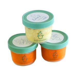Baby Food Storage Containers - Sage Spoonfuls Mini 4oz Storage Jars (3pk) - BPA Free