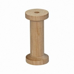 10 Tall Slender Wood Spools 2 3/4 x 1 1/4, Made in the USA, by My Craft Supplies
