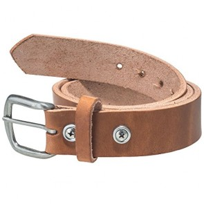 Working Person's 18401 Heavy Duty Tan Leather Work Belt - Made In The USA (34)