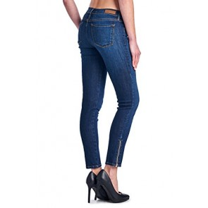 Angry Rabbit Womens Premium Deisgners Bottom Zipper Detail Ankle Jeans Made in USA-25