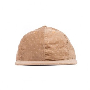 FairEnds Men's Corduroy Polka Ball Cap Khaki/Polka Dot