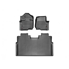 2015-2017 Ford F-150-Weathertech Floor Liners-Full Set 1st Row Bucket Seating (Includes 1st and 2nd Row)-Fits Supercrew Models Only-Black