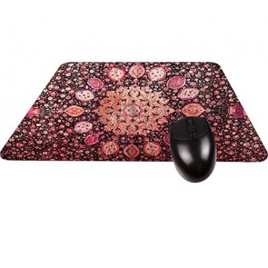 Ardabil Persian Rug in Red Tones-Square Mouse pad - Stylish, Durable Office Accessory Made in the USA