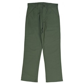 Gung Ho OG-107 Olive Green Sateen 4-Pocket Military Fatigue Pant - Made in the USA 28X32