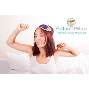 Memory Foam Neck Pillow - Double Contour - Chiropractor Approved - Washable Soft Bamboo Cover - Great for Neck Pain, Sleeping (Large)
