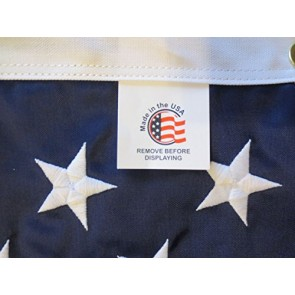 American Flag, 100% Made In USA, Nylon US Flags, Embroidered and Sewn, Indoor/Outdoor, Withstands Tough Weather and Wind - United States Flag with Brass Grommets by bbi Flags (3'x5')