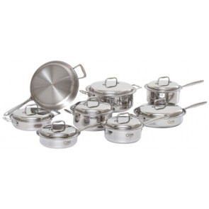 360 Cookware Stainless Steel Cookware Set, 15-piece