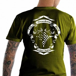 Bundle of 3 items. Let Freedom Ring Army SM T-Shirt. Made in USA