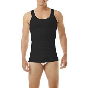 Underworks Mens Compression Body Shirt Girdle Gynecomastia Shirt 3-Pack Small Black