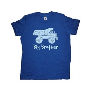 Boys Dump Truck Big Brother Shirt 5-6 Blue by Sunshine Mountain Tees