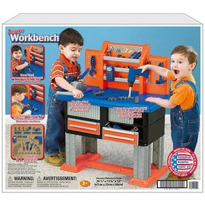 American Plastic Toys Deluxe 38 Piece Work Bench