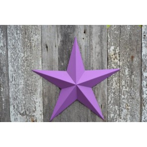 "53 Inch Heavy Duty Metal Barn Star Painted Solid Purple Orchid. The Solid Paint Coverage Gives the Star a Clean and Crisp Appearance. This Tin Barn Star Measures Approximately 53"" From Point to Point (Left to Right). The Barnstar Is Hand Crafted Out of 22"