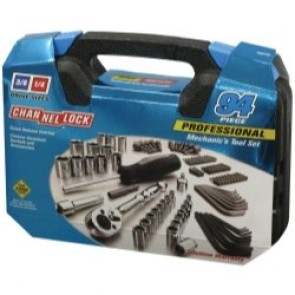 CHA39070 Channellock 94 Piece Mechanic's Tool Set